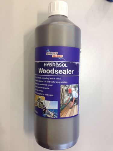 Burgess Marine Hydrosol Woodsealer for Teak and Iroko etc 500ml and 1Ltr